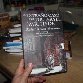 el extraño caso del dr. jekyll y mr. hyde … robert louis stevenson … ilustrado … pasta dura … 124 páginas