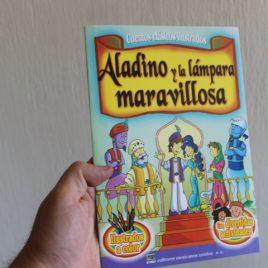 aladino y la lámpara maravilloso … cuentos clásicos ilustrados … 16 páginas … emu