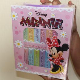 disney minnie … caja con 12 libros de cartón … hojas gruesas