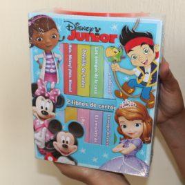 disney junior … caja con 12 libros de cartón … hojas gruesas