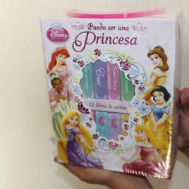 disney puedo ser una princesa … caja con 12 libros de cartón … hojas gruesas