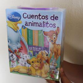 disney cuentos de animalitos … caja con 12 libros de cartón … hojas gruesas