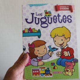 los juguetes … aprendo con stickers … 12 páginas