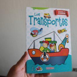 los transportes … aprendo con stickers … 12 páginas