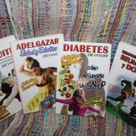 oferta … cuatro libros de dr. vander por Q100 … diabetes, tos bronquitis, adelgazar, reumatismo y dolores