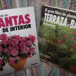 oferta … el gran libro de plantas de terraza y balcón y el gran libro de las plantas de interior … normalmente Q150 cada uno … compra los dos juntos por Q200