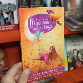 princesas hadas y brujas para colorear … bilingue con actividades … emu … 95 páginas