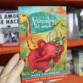 animales del mundo para colorear … bilingue con actividades … emu … 95 páginas