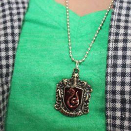 harry potter escudo medalla collar slytherin (009)