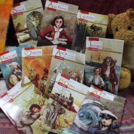 clásicos para niños serie roja cobre ….  el mismo texto de clasicos para niños normal, pero con nuevo arte y portada … Q20 cada uno o 6 por Q100