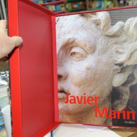 javier marín escultura … libro grande de arte … pasta suave con 207 páginas adentro de una caja